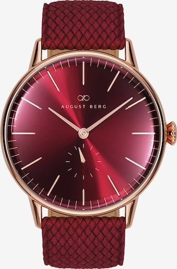 August Berg Uhr 'Serenity 40mm' in rot, Produktansicht