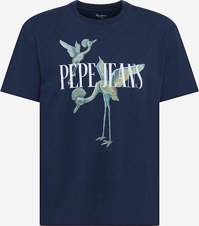 Pepe Jeans Majica 'Simon' u tamno plava / žuta / bijela: Prednji pogled