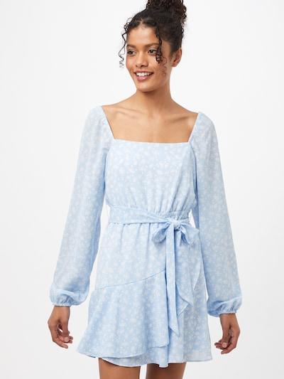 NA-KD Kleid in blau / weiß, Modelansicht