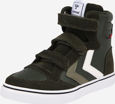Hummel Zapatillas deportivas 'Stadil' en caqui / verde oscuro / blanco, Vista del producto