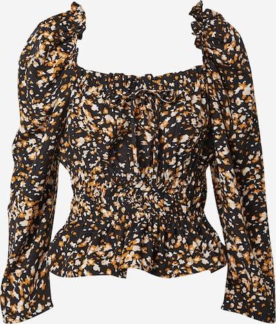 SISTERS POINT Shirt 'GLOP' in de kleur Beige / Donkeroranje / Zwart / Wit, Productweergave