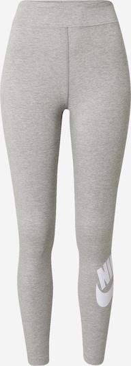 Nike Sportswear Leggings in graumeliert / weiß, Produktansicht
