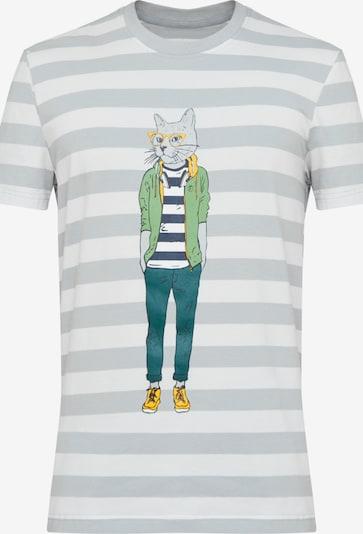 Finn Flare T-Shirt in silbergrau / mischfarben / weiß, Produktansicht