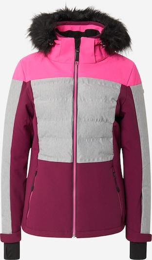 KILLTEC Outdoorjacke in grau / pink / dunkelpink, Produktansicht