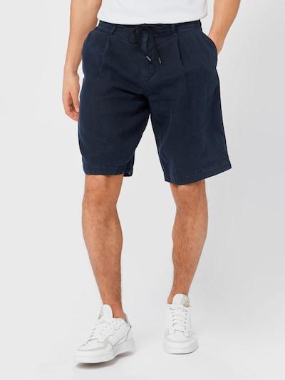 sötétkék BOSS Casual Élére vasalt nadrágok, Modell nézet