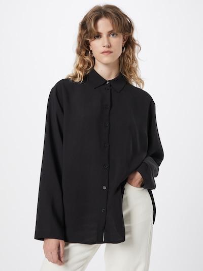 WEEKDAY Bluse 'Celeste' in schwarz, Modelansicht