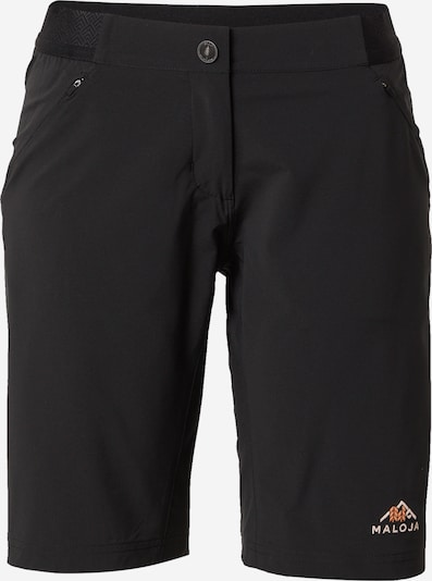 Maloja Pantalon outdoor en orange clair / noir / blanc, Vue avec produit