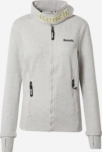 BENCH Sweatjacke 'HAYLO' in gelb / grau / schwarz, Produktansicht