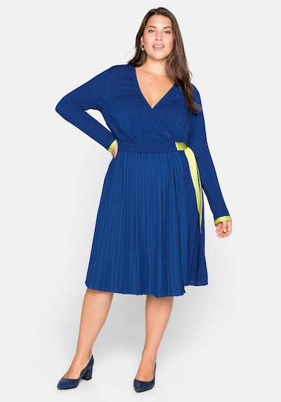 SHEEGO Kleid in royalblau / limette, Modelansicht