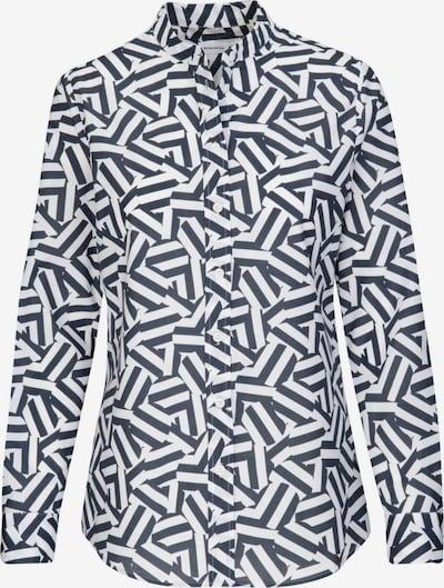 SEIDENSTICKER Bluse in dunkelgrau / weiß, Produktansicht