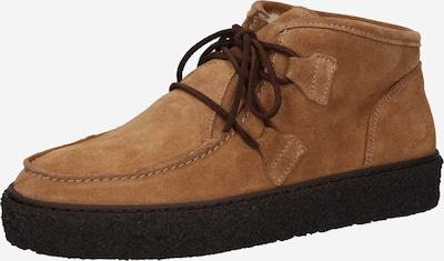 Ca'Shott Lace-Up Ankle Boots in Light brown: Frontal view