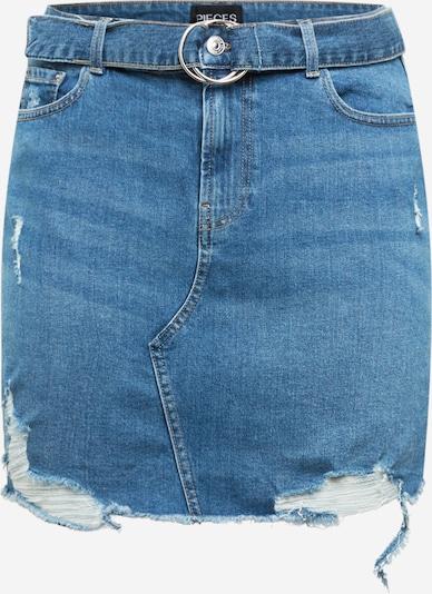 PIECES (Curve) Skirt 'GERA' in Blue denim, Item view