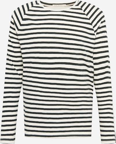 Tricou 'Otto Breton' Nudie Jeans Co pe negru / alb coajă de ou, Vizualizare produs