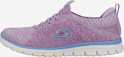 SKECHERS Baskets basses en violet / blanc, Vue avec produit