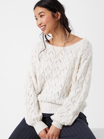ONLY Trui 'Brynn' in de kleur Wit, Modelweergave