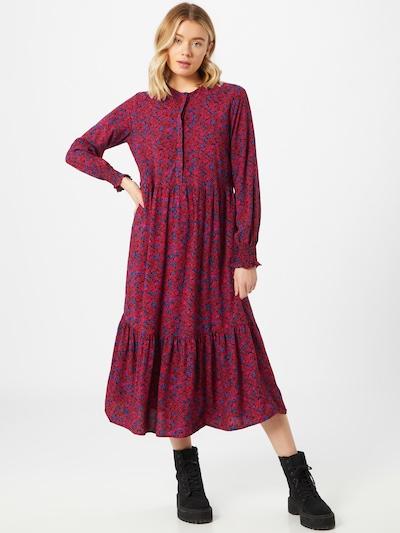 GAP Kleid 'Henley' in dunkelblau / pink / burgunder, Modelansicht