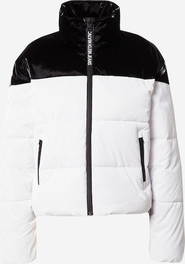 Calvin Klein Jeans Veste mi-saison en noir / blanc, Vue avec produit