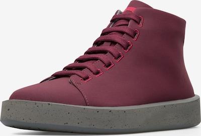 CAMPER Sneakers hoog 'Courb' in de kleur Donkergrijs / Bourgogne: Vooraanzicht