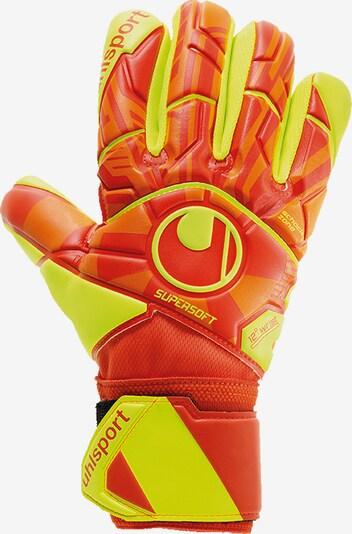 UHLSPORT Handschuh in neongelb / orange, Produktansicht