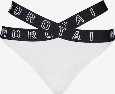 MOROTAI Sportbikinihose in hellgrau / schwarz / weiß, Produktansicht