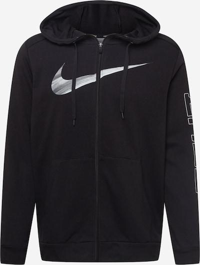 NIKE Sportiska tipa jaka, krāsa - pelēks / melns / balts, Preces skats