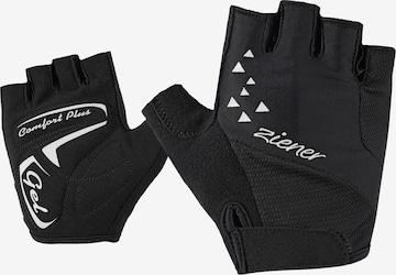 ZIENER Athletic Gloves 'CÄCI' in Black