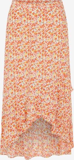 PIECES Falda 'Bali' en turquesa / lima / coral / rojo anaranjado / blanco, Vista del producto