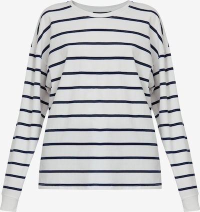 Finn Flare Langarmshirt in dunkelblau / weiß, Produktansicht