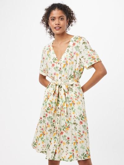 OBJECT Robe-chemise 'OBJLORENA' en sable / olive / vert clair / orange / pitaya, Vue avec modèle
