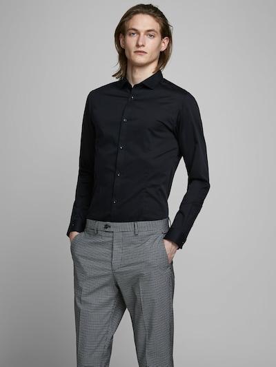 Camicia business 'PRPARMA' JACK & JONES di colore nero: Vista frontale