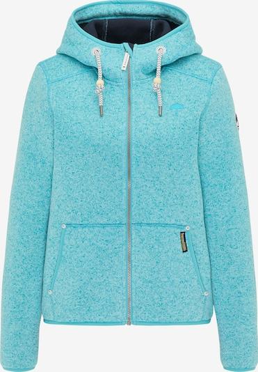 Schmuddelwedda Fleece jas in de kleur Turquoise, Productweergave