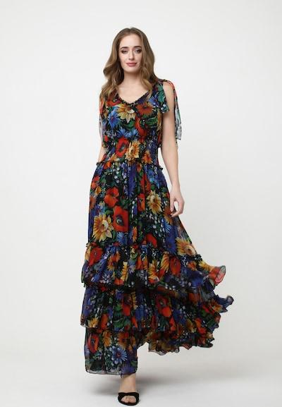 Madam-T Kleid 'Nikoletta' in mischfarben, Modelansicht