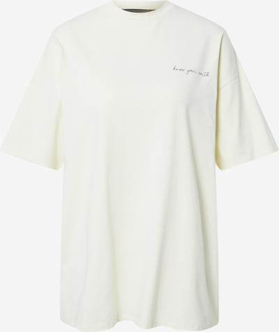 NU-IN Camiseta talla grande 'Know Your Worth' en amarillo, Vista del producto