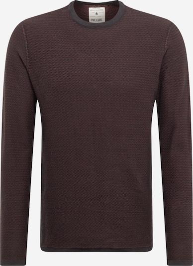 Only & Sons Pullover 'BUUR LIFE ' in bordeaux / schwarz, Produktansicht