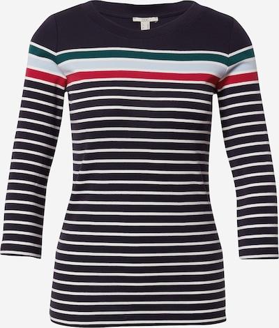 EDC BY ESPRIT T-shirt en bleu nuit / bleu clair / vert foncé / rouge / blanc, Vue avec produit
