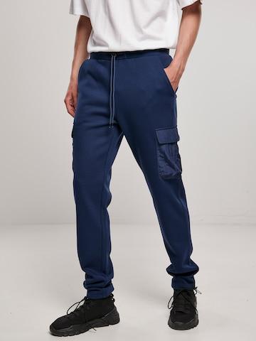 Urban Classics Klapptaskutega püksid 'Commuter', värv sinine