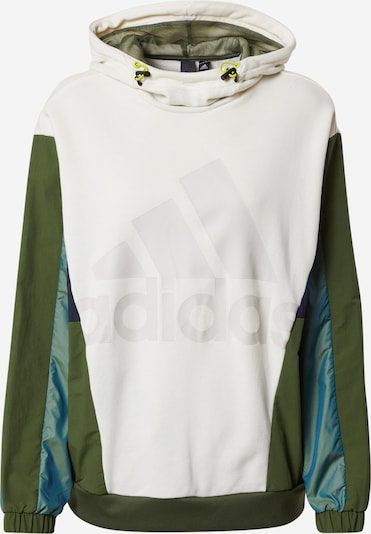 ADIDAS PERFORMANCE Sportsweatshirt 'Must Haves Enhanced' in marine / oliv / jade / weiß, Produktansicht