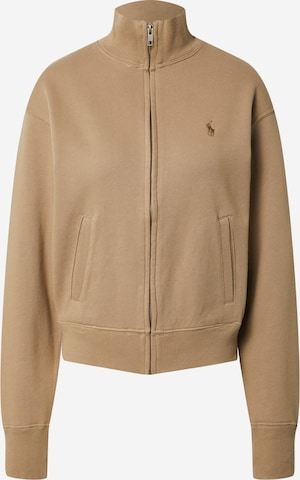 Polo Ralph Lauren Zip-Up Hoodie in Brown
