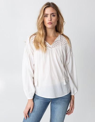 Indiska Bluse ' Juno ' in weiß, Modelansicht