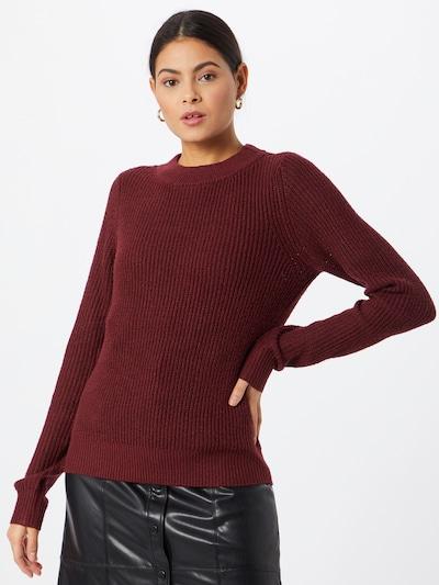 VERO MODA Sweter 'RUBERTA' w kolorze ciemnoczerwonym, Podgląd na modelu(-ce)