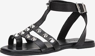 INUOVO Sandale in Schwarz