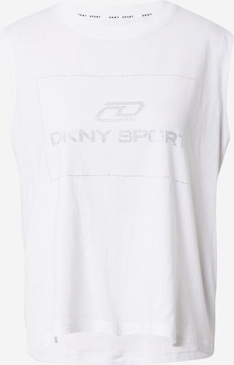 DKNY Performance Top 'RHINESTONE' in silbergrau / weiß, Produktansicht