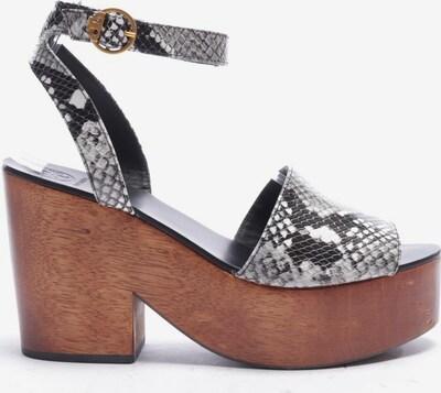 Tory Burch Sandaletten in 39,5 in schwarz / weiß, Produktansicht