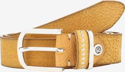 b.belt Handmade in Germany Gürtel in hellbraun / gelb / silber, Produktansicht