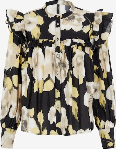 Y.A.S Bluse 'Fluri' in beige / pastellgelb / hellgelb / schwarz, Produktansicht