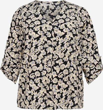 ONLY Carmakoma Bluse in creme / schwarz, Produktansicht