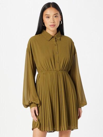 NA-KD Kleid in oliv, Modelansicht