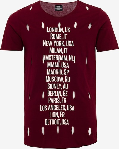 Redbridge T-Shirt Los Angeles mit trendigen Cuts in bordeaux, Produktansicht