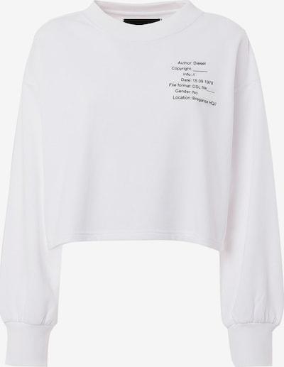 DIESEL Sweatshirt in schwarz / weiß, Produktansicht