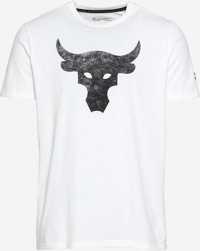 UNDER ARMOUR T-Shirt fonctionnel 'Rock Brahma Bull' en noir / blanc, Vue avec produit